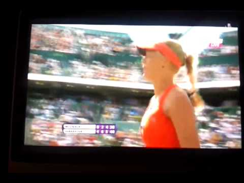 Maria Sharapova vs Caroline Wozniacki Match Point Controversy Miami 2012