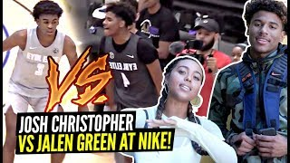 JALEN GREEN vs JOSH CHRISTOPHER w/ NBA PROS WATCHING!!! Who's Jalen's FAVORITE OPPONENT?