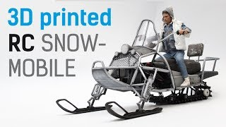 Сreating 1/6 scale 3D printed RC Snowmobile