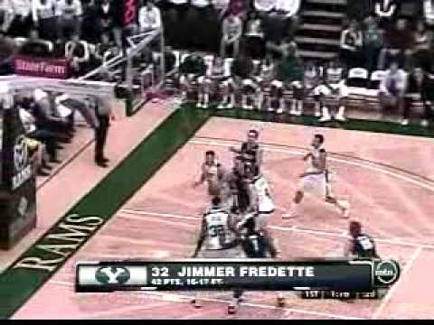 Jimmer Fredette Byu Byu Jimmer Fredette 42 Point