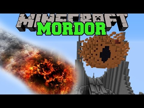 NATURAL DISASTERS VS MORDOR Minecraft Mods Vs Maps Lord of the Rings