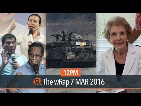 PH 2016 elections, North Korea threats, Nancy Reagan | 12PM wRap