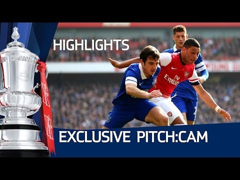 PITCH:CAM Arsenal vs Everton 4-1, Exclusive FA Cup Pitchside Highlights