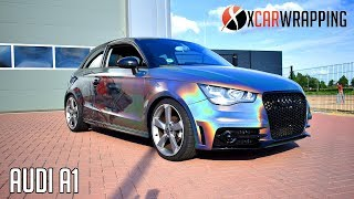 EPIC DESIGN ON A PSYCHEDELIC FLIP AUDI A1 - By X Carwrapping