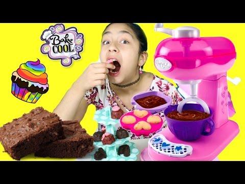 Bake Cool Magic Mixer I made Brownies and Cupcakes! B2cutecupcakes