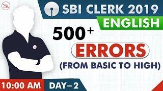 500+ Error Corrections | SBI Clerk 2019 | English | 10:00 AM