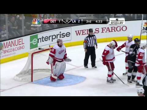 Anze Kopitar slick backhand goal 2-1 Feb 27 2013 Detroit Red Wings vs LA Kings NHL Hockey