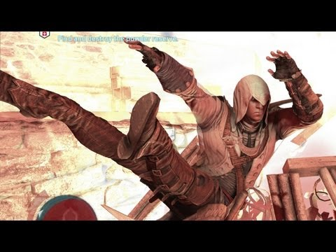 Connor learns to fly!  Assassin's Creed 3 Funny Silly Crazy Stuff 16