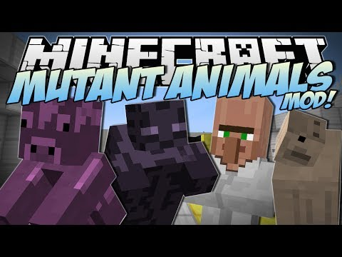 Minecraft MUTANT ANIMALS MOD Zombie Cows Slime Pigs Mutant Armies Mod Showcase