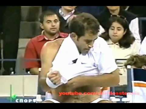 Classic Pete Sampras Shirtless From US Open