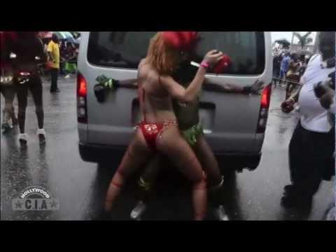 Rihanna Dancin In Red Bikini As She Goes Barebados!