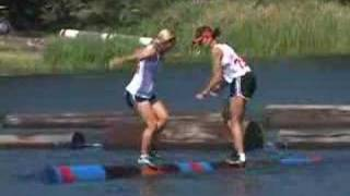 Jenny Atkinson 2005 World Championship Log rolling
