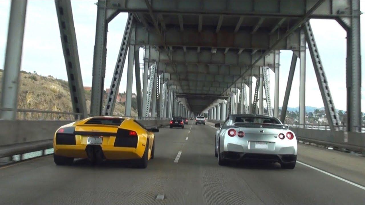 Lamborghini Murcielago And Nissan Gtr Black Edition By