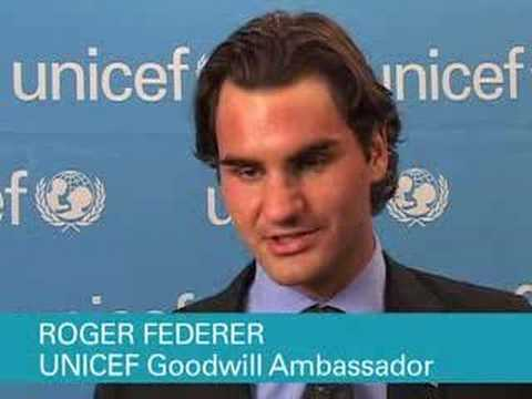 Roger Federer Stars in PSA for UNICEF's HIV/AIDS Campaign