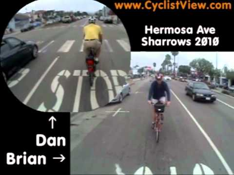 Lane Control: Traversing the Sharrows on Hermosa Avenue in Hermosa Beach