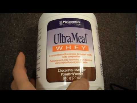 Review Metagenics UltraMeal Whey chocolate Flavour protein powder drink mix gluten free