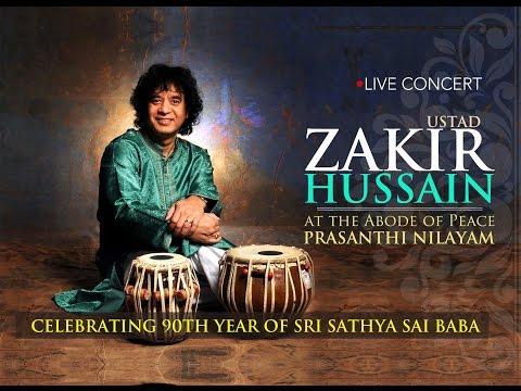Ustad Zakir Hussain Tabla Solo || Jhoola Mahotsavam at Prasanthi Nilayam - 24 Nov 2015