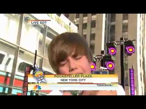 Justin Bieber  One Time - Today Show Live!