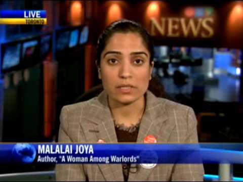 Malalai Joya 'A Woman Among Warlords' speaks to CTV