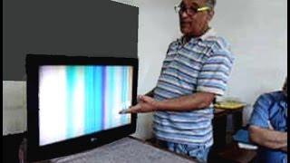 TV Lcd LG: Tela acesa sem imagem, com som. Como foi consertada!
