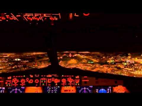 Fsx fly Tampa Dubai night landing a320 etihad