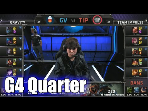 Team Impulse vs Gravity | Game 4 Quarter Finals S5 NA LCS Spring 2015 playoffs | TIP vs GV G4