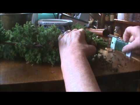 How to Make an Almost Free Topiary Christmas Tree Decoration