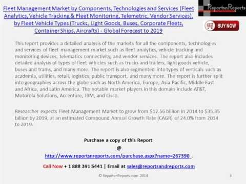 Global Fleet Management Market to Grow at a CAGR of 24.0% by 2019