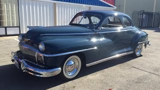 Riding In A 1948 DeSoto Custom Club Coupe