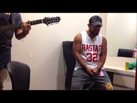 Tawaroa Kawana and Chad Chambers jamming backstage