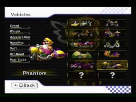 Mario kart wii unlockables bikes karts youtube - Mario kart wii voiture ...