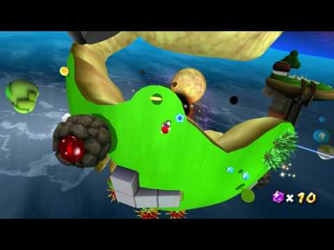 Super Mario Galaxy on Dolphin the Wii Emulator (Full Speed - 720p HD)