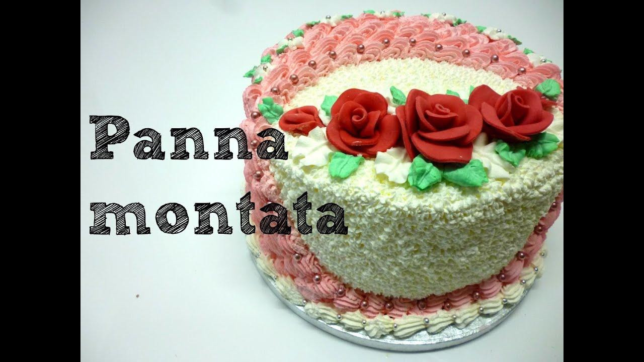 torta decorata con panna montata by italiancakes youtube On tipi di decorazioni con panna