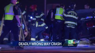 Man killed in head-on crash with wrong-way driver