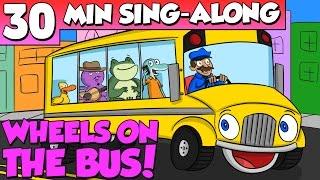 download lagu Wheels On The Bus - Nursery Rhyme Sing Along gratis