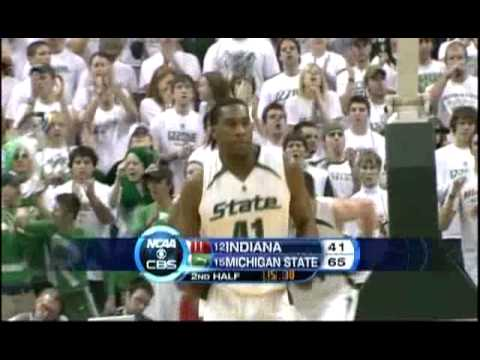 Michigan State Spartans Basketball vs Indiana 2008 : Bodies Video