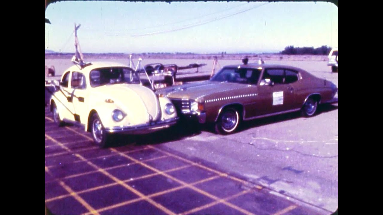 Vw Beetle Test >> 1971 VW Beetle vs 1972 Chevy Malibu Classic | Car-To-Car Crash Test by NHTSA | CrashNet1 - YouTube