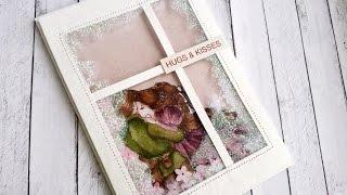 Валентинка-шейкер #4 / Love card #4 with frozen window