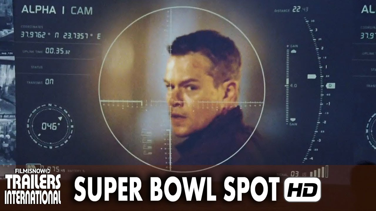 Matt Damon é JASON BOURNE - Primeiras Imagens Super Bowl Spot [HD]