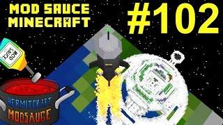 Minecraft Mods - Mod Sauce Ep. 102 - Space Rescue Mission !!! ( HermitCraft Modded Minecraft )