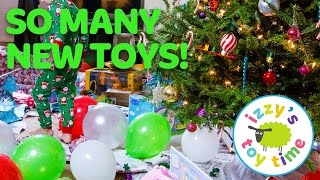 Christmas with Izzy's Toy Time! Shopkins, Hot Wheels, Peppa Pig, Doc McStuffins, and Thomas Train!