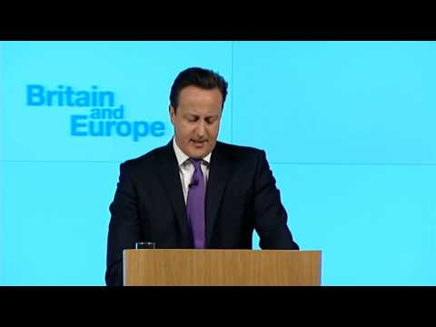 David Cameron: I'm in favour of referendum on Europe