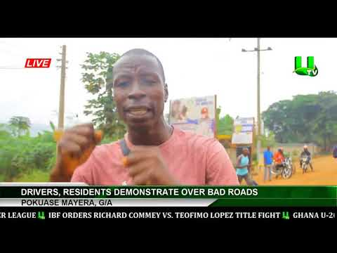 Pokuase Mayera: Drivers, Residents Demonstrate Over Bad Road