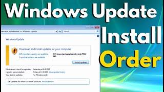 Windows Update Troubleshooting - Order for Installing Windows Updates