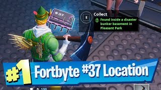 Fortnite Fortbyte #37 Location - Found inside a Disaster Bunker basement in Pleasant Park