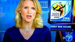 World Cup 2010- Hot Blonde Newscaster Makes Freudian Slip- South Africa