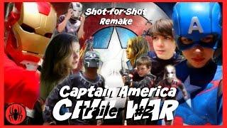 Captain America: Civil War Trailer 2 Shot-for-shot remake sweded w kid deadpool   SuperHeroKids