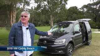 Glamping in 2019 VW Caddy Beach Camper with tent