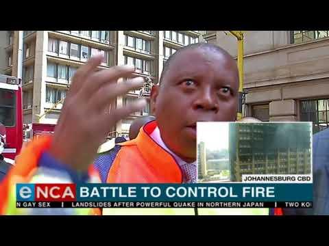 Mayor Herman Mashaba speaks on Joburg's building blaze
