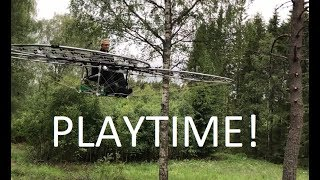 chAIR -Manned drone Part 24 -Playtime! Electric VTOL Axel Borg